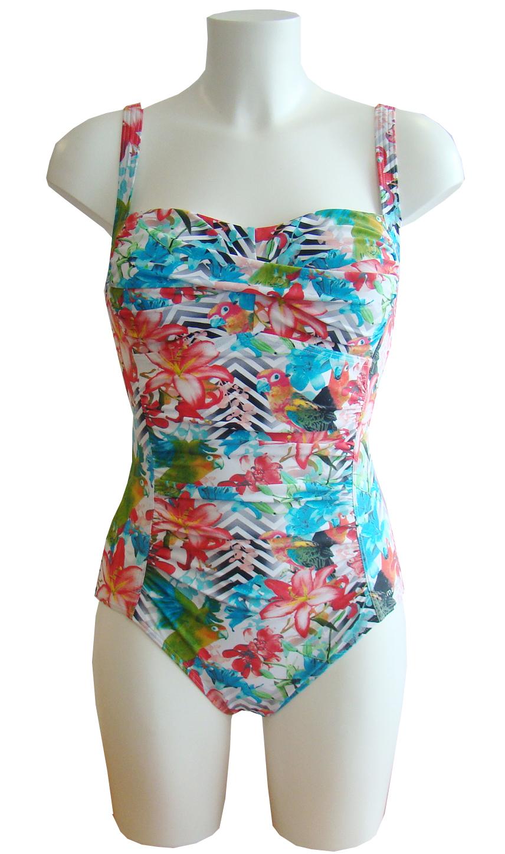 Badpak Met Versteviging.Manouxx Badpak Voorgevormd En Voorkant Verstevigd Beachwear